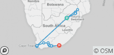 South Africa Highlights - 25 destinations