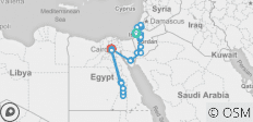 All around Israel, Jordan, and Egypt 20 days  - 28 destinations