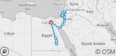 Mediterranean tour to Israel, Jordan, and Egypt 17 days - 25 destinations