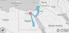 Mediterranean tour to Israel, Jordan, and Egypt 17 days - 23 destinations