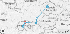 From Prague to Zurich - 8 destinations