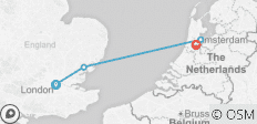 Northern Route (from London to Amsterdam) - 4 destinations