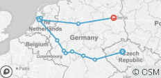 Prague to Berlin - 13 destinations