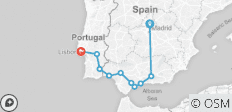 South of Spain with Lisbon (from Madrid to Lisbon) - 10 destinations