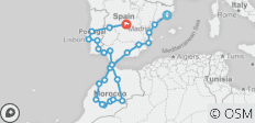 Spain, Morocco and Portugal (from Barcelona to Madrid) - 25 destinations