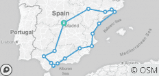 Spanish Ring - 16 destinations