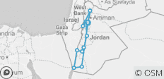 Cycle Jordan (Petra & Wadi Rum) - 11 destinations