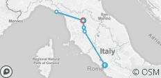 Rome, Florence & Tuscany with Cinque Terre - 12 destinations
