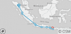 Indonesia Adventure – Sumatra, Java & Bali - 16 destinations