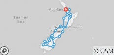Total Aotearoa from Auckland - Top rated by National Geographic - 38 destinations