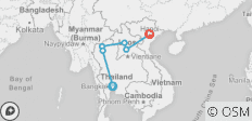 Thailand to Laos, 12 days - 6 destinations