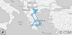 Grand Tour of Greece - 10 Days - 15 destinations