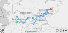 The Five Stans of the Silk Road - 21 destinations