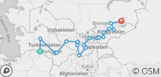 The Five Stans of the Silk Road - 20 destinations