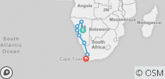Namibia to Cape - 14 days - 8 destinations