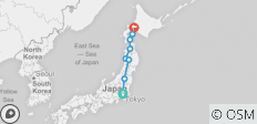 Northern Tohoku and Western Hokkaido Mini Tour - 8 destinations