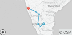 Highlights of Karnataka combined with Goa - 6 destinations