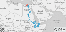 Addis Ababa To Alexandria - Africa Explored - A One Off Expedition (52 Days) - 23 destinations