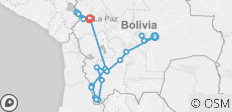 Highlights of Bolivia - 24 destinations