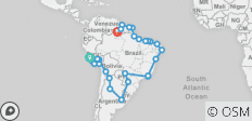 Trans South America with Carnival - 67 destinations