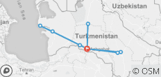 Das Beste aus Turkmenistan - 9 Destinationen