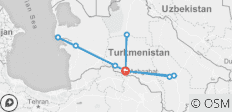 Best of Turkmenistan - 10 destinations