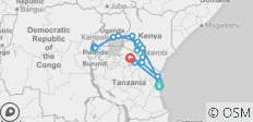 Gorilla Trek & Tanzania Northbound - 25 days - 25 destinations