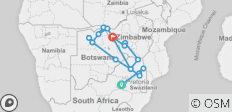 Jo\'burg to Falls - 12 Days - 17 destinations