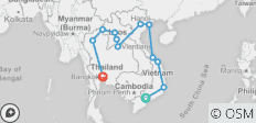 Vietnam, Laos & Thailand on a Shoestring - 13 destinations