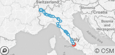 The Full Via Francigena - 51 destinations