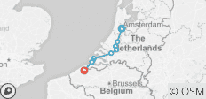 Cycle Amsterdam to Bruges - 9 destinations