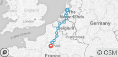 Cycle Amsterdam to Paris - 13 destinations