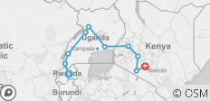 Gorillas & Masai Mara - Accommodated Reverse - 10 destinations
