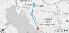 Zagreb to Split Coast Express - 3 destinations