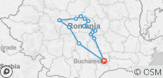 Transylvania Castle tour in four days from Bucharest - 14 destinations