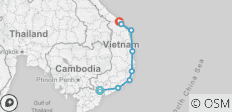 South Vietnam Coastal Cruising: Ho Chi Minh to Danang - 8 destinations