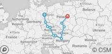Eastern Road (End Warsaw, 13 Days) - 11 destinations