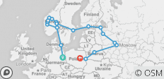 Scandinavia & Russia Plus (Start Berlin, End Warsaw, 22 Days) - 19 destinations