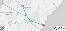 Kilimanjaro to Mombasa - 4 destinations