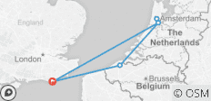 Amsterdam and Bruges - from Eastbourne - 6 destinations