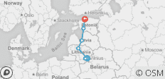 Highlights of Baltic States in 8 days - 7 destinations