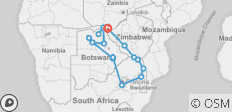 Southern Africa Overland: Canoes & Camp-Outs - 18 destinations