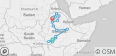 Arba Minch to Gondar - 16 destinations
