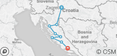 Croatia Coast and Canyons Walk - 8 destinations