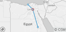 Egypt short break tour package for 5 Days - 7 destinations