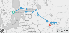 From Stockholm to Moscow - 14 destinations