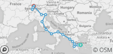 Greece, Italy and Switzerland - 17 destinations