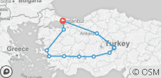 Turkey - 16 destinations