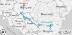 Gems of Southeast Europe 2019 Start Giurgiu, End Budapest - 12 destinations