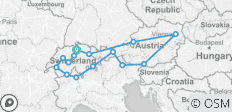 Switzerland and Austria 2019 - 15 destinations